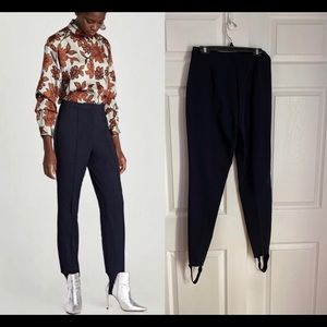 NAVY STIRRUP TROUSERS/ ZARA